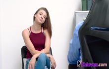 Horny teen is getting a punishment for being a naughty thief.