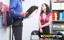 Rough sex for a petite cutie who was caught stealing at the store.