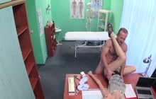Hot slut fucks with doctor