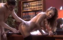 Hard office sex with stunning Jenna Presley