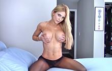 Haley Ryder doing solo show in pantyhose